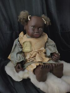 Maynard ARNETT'S COUNTRY STORE Primitive Black Americana Doll Farm Kid Jesse 24""