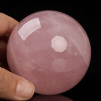 390g 65mm Large Natural Pink Rose Quartz Crystal Sphere Healing Ball Chakra