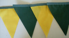 2018 WORLD CUP Australia Yellow  Green Football fabric bunting flags 10 mtrs