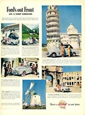 1948 Ford PRINT AD Out Front Trip Abroad England, Hannibal, Spain, Holland +