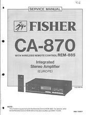Fisher Original Service Manual für CA- 870