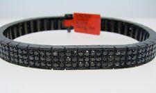 Mens Black On Black Diamond Bangle Bracelet 14.20 Ct