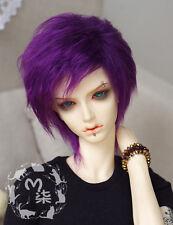 "22-23cm / 8-9"" - Lavender- Faux Fur Wig 1/3 SD13/10 BJD Doll Dollfie"