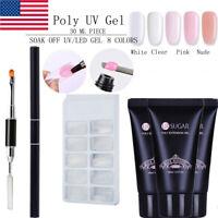 UR SUGAR UV Gel Brush Kits Nail Poly Quick Extension Gel Polish False Mold Tips
