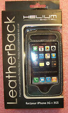 HELIUM DIGITAL HD-065 ALL LEATHER BELT CLIP PHONE CASE FOR iPHONE 3G & 3GS