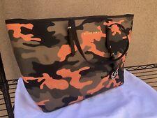 Michael Kors Jet Set Poppy Orange Camouflage Tote Bag (fall 2014)