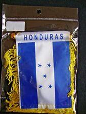 """NEW Honduras Flag Mini Banner 4"""" x 6"""" w/ Suction Car Window White Blue Stars"""