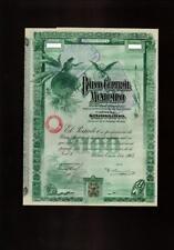 Mexico Bond Share 1908 Banco Central Mexicano Blueberry W/ PassCo Certificate