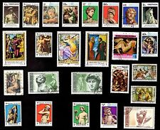 25 All Different  MICHEL ANGE  ART  STAMPS