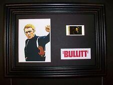 BULLITT Framed Movie Film Cell Memorabilia Compliments poster dvd book