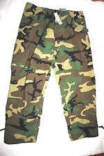 NWT USGI ECWCS GORE TEX COLD WEATHER WOODLAND CAMO PANTS TROUSERS- LARGE REGULAR