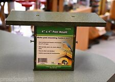 4X4 Post Mount For Bird Houses And Bird Feeders - Recycled Plastic - Made In Usa