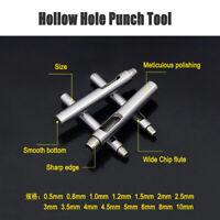 Foro 0,5-10mm Hollow Punzone Set Guarnizione Foglio In Lamiera in Pelle Vinile