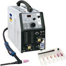 GYS WIG SALDATRICE TIG 200 AC DC HF FV 011618 con bruciatore WIG sr26db 4m (senza