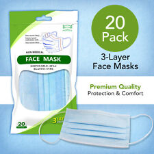 Face Mask Mouth & Nose Protector - 20 Count