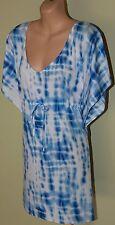 Womens Blue and White Spoke Truth Kaftan Dress BNWT - Fate - Size S