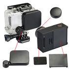Black lens cap+battery back door+side door cover for go pro hero 3+/4 ca.PI