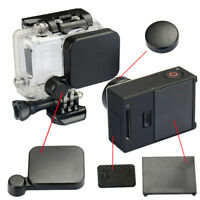 Black Lens Cap + Battery Back Door + Side Door Cover For Go Pro Hero3+/4Cam ST