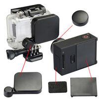 Black lens cap+battery back door+side door cover for go pro hero 3+/4 came Jx