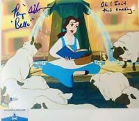 Paige O'Hara signed Belle 11X14 photo Beauty and the Beast BAS COA W24662