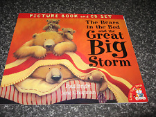 THE BEARS IN THE BED & THE GREAT BIG STORM BY PAUL BRIGHT S/C BOOK WITH CD B/NEW