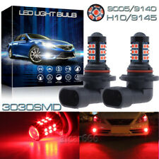 2x 30SMD Red H10 9145 3030 LED Fog Daytime Running Light Bulbs Driving Lamps DRL