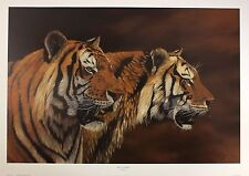 "JONATHAN TRUSS ""Twice Stripes"" indian tigers NEW art SIZE:51cm x 76cm  RARE"