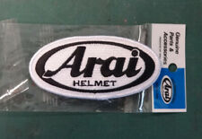 Arai Helmet - Black embroidered badge - Genuine factory part
