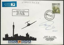 RSA 1982 FFC Autographed Cover Capetown to Johannesburg
