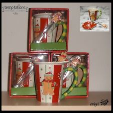 Temp-tations: Set of 4 Gingerbread Mugs w/Spoons & Toppers/Coasters (Sold Out)