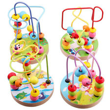 Baby Kids Wooden Around Beads Boys Girls Interactive Toy Early Educational Toys