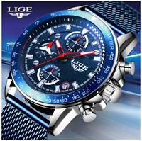 LIGE 2020 Men Watch Top Brand Luxury Chronograph Watch Men Sport Quartz Watch
