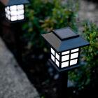 Set of 6 White LED Outdoor Solar Powered Lantern Garden Lawn Landscape Lights
