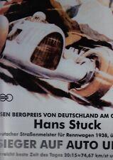 270 - Hans Stuck , Sieger auf Auto Union, Blechschild