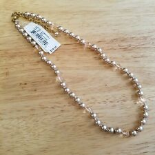 Hand Knotted Faux Pearl and Crystal Necklace, 16 inch necklace with extender