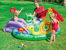 Gonflable aire de jeux toboggan pour enfants piscine pour bain sur le terrain