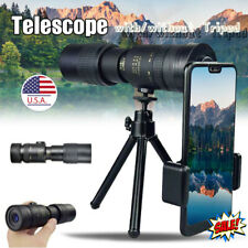 4K 10-300X40mm Super Telephoto Zoom Monocular Telescope W/ Tripod & Clip Set New