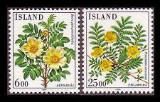 Mint Never Hinged/MNH Flowers Icelandic Stamps