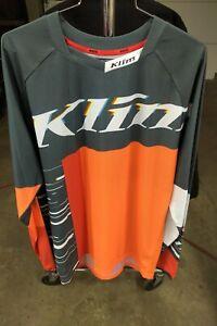Klim XC lite Off road, motocross Jersey Statik petrol/orange size large