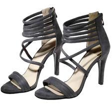 Women Roman Gladiator Sandals Open Toe Big Size Stilettos High Heels Pumps Shoes