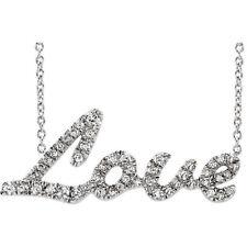 Diamante Amor 45.7cm Collar en 14k ORO BLANCO (1/5 CTW )