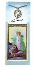 Guardian Angel Pewter Pendant with Prayer Card (CPC398) NEW