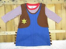 Stephan Baby Girls size 12-18 Months Sheriff Dress Vest Cowgirl Costume