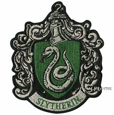 """Harry Potter Slytherin Snake Crest Embroidered IRON ON Patch Badge 3 1/4"""" x 4"""""""