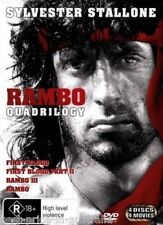 RAMBO Quadrilogy 1-4 1+2+3+4 DVD 4-MOVIES Sylvester Stallone BRAND NEW SEALED R4