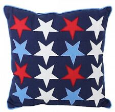 Childs Nautical Stars Beachy House Applique Embroidered Scatter Bed Cushion
