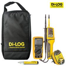 Di-Log EKB001 Kit w/ voltage tester, multimeter, audible socket tester and case
