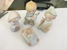 Vintage Homco Children Nativity 4 Pieces , All Marked 5502