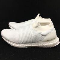 Adidas UltraBoost Laceless Primeknit PK Boost White Cream BB6146 Originals