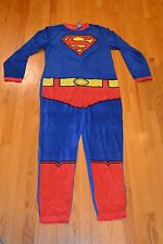 Men's Superman Union Suit Pajamas One Piece Sleepwear Size Medium - New With Tag